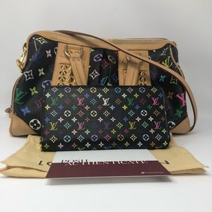 LouisVuitton MutiColor Courtney w/ Matching Wallet